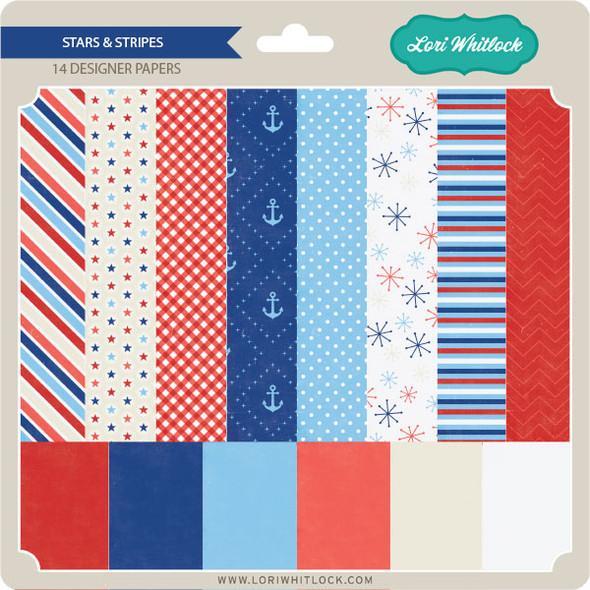 Pattern Fill Set Stars and Stripes