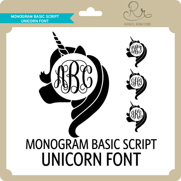 Monogram Basic Script Unicorn Font