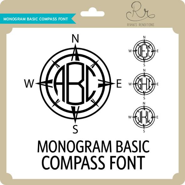 MonogramBasic Compass Font