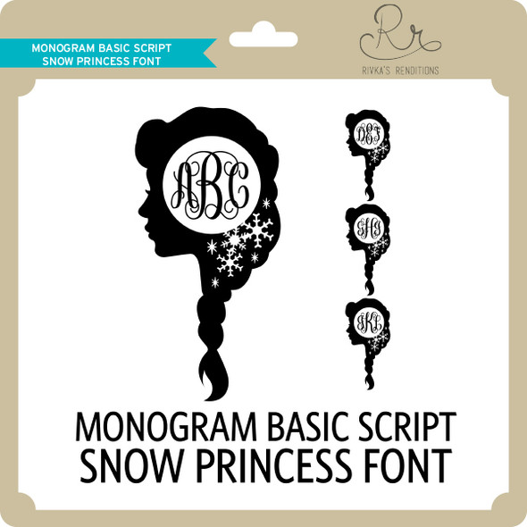 MonogramBasicScript Snowprincess Font