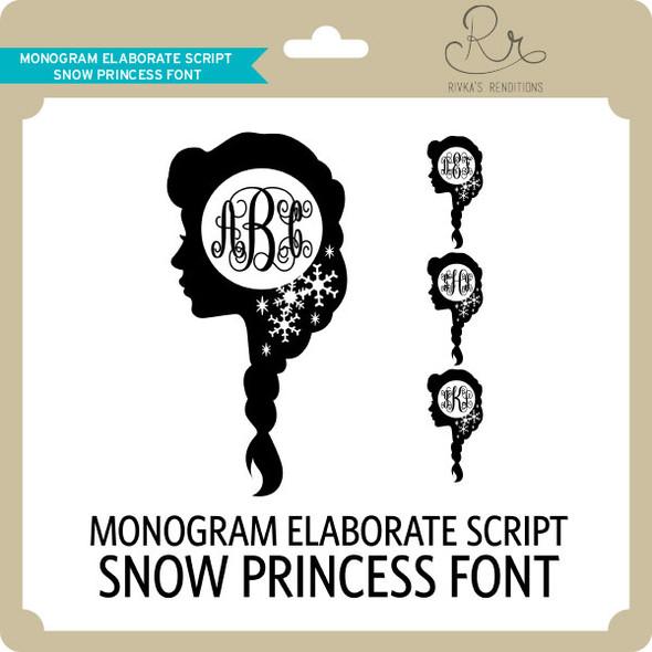 MonogramElaborateScript Snowprincess Font