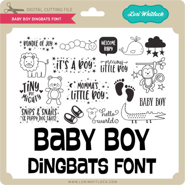 Baby Boy Dingbats