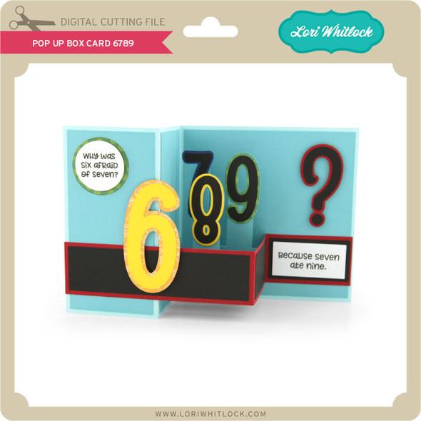 Pop Up Box Card 6789