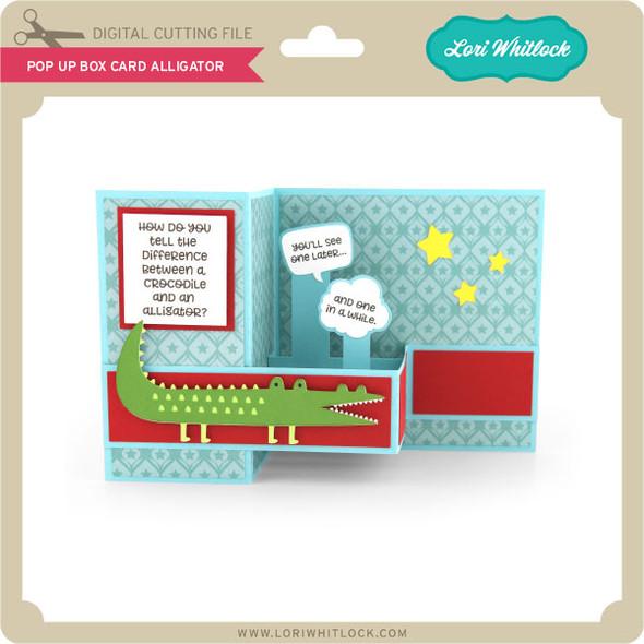 Pop Up Box Card Alligator