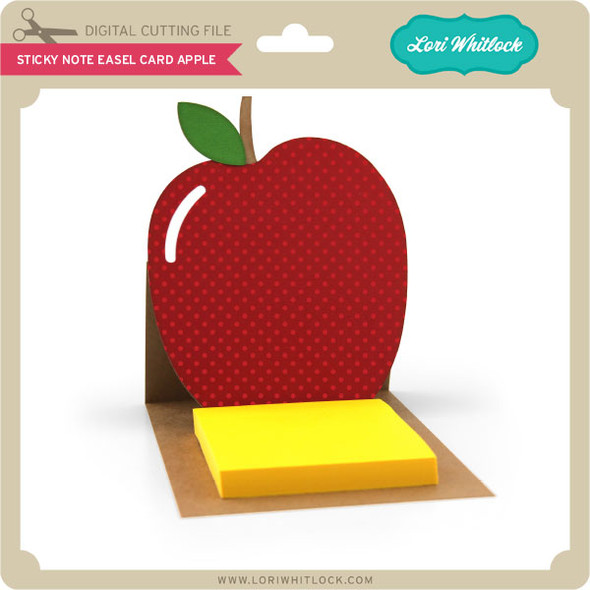Sticky Note Easel Card Apple
