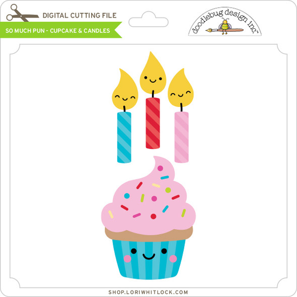 So Much Pun -  Cupcake & Candles