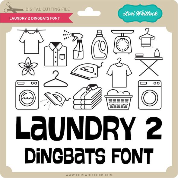 Laundry 2 Dingbats Font