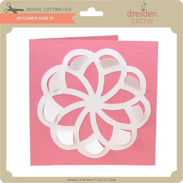 3D Flower Card 10