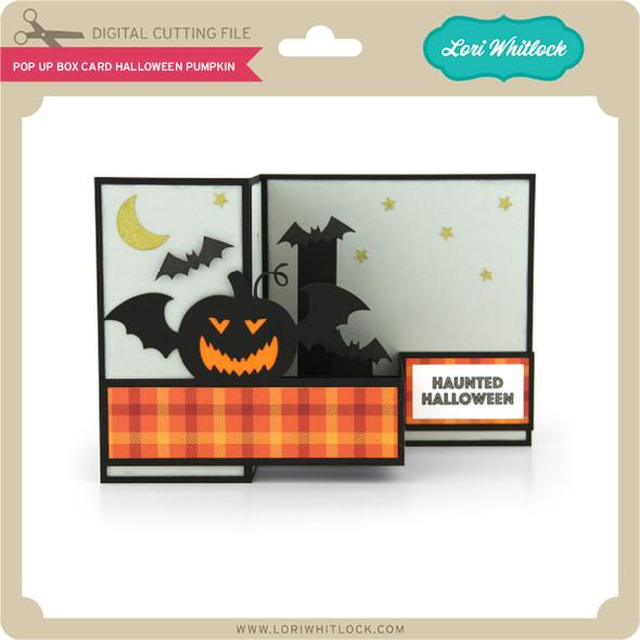 Pop Up Box Card Halloween Pumpkin