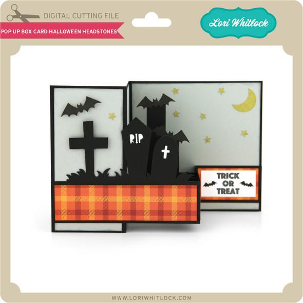 Pop Up Box Card Halloween Headstones