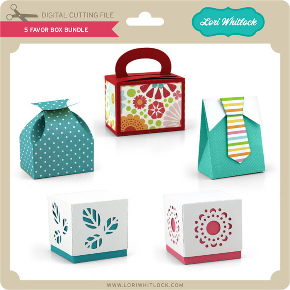 5 Favor Box  Bundle