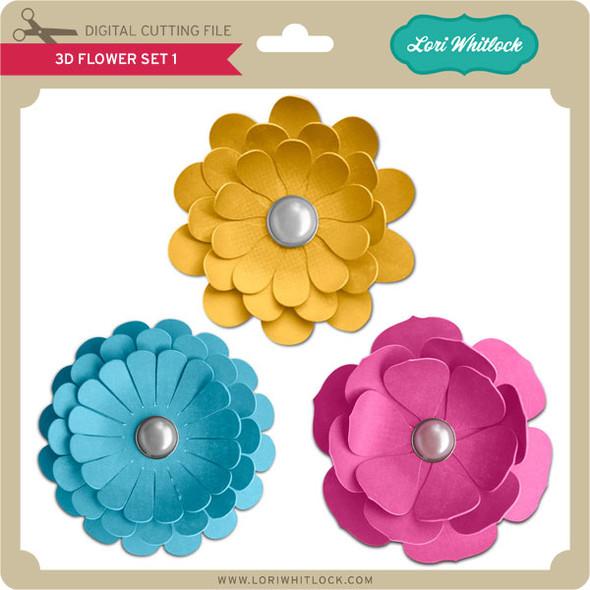 3D Flower Set 1