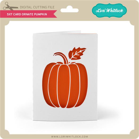 5x7 Card Ornate Pumpkin