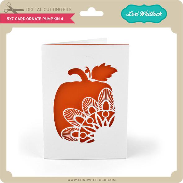 5x7 Card Ornate Pumpkin 4