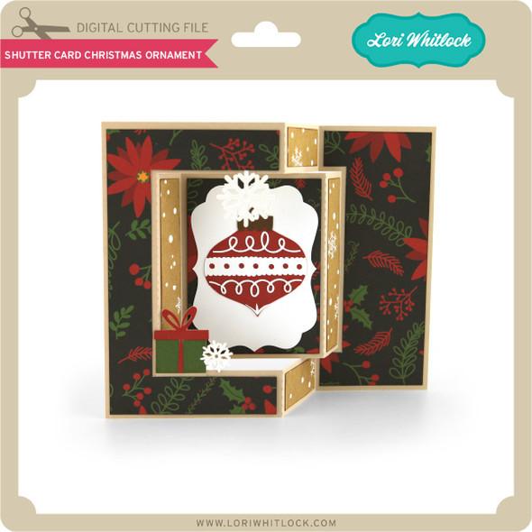 Shutter Card Christmas Ornament