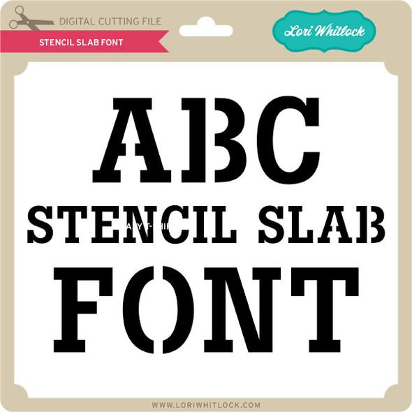 Stencil Slab Font