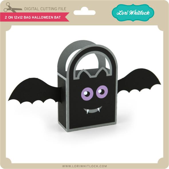 2 on 12x12 Bag Halloween Bat