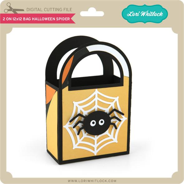 2 on 12x12 Bag Halloween Spider