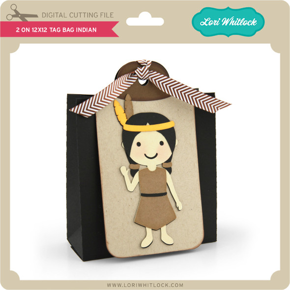 2 on 12x12 Tag Bag Indian