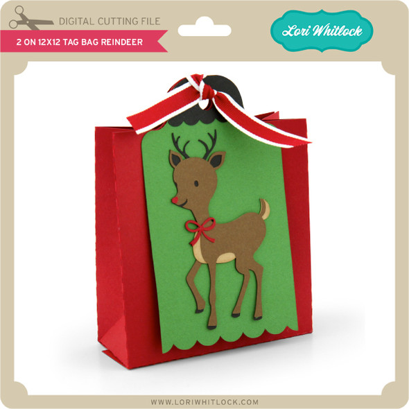2 on 12x12 Tag Bag Reindeer