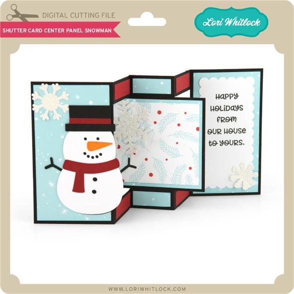 Shutter Card Center Panel Snowman