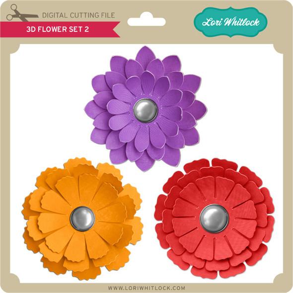 3D Flower Set 2