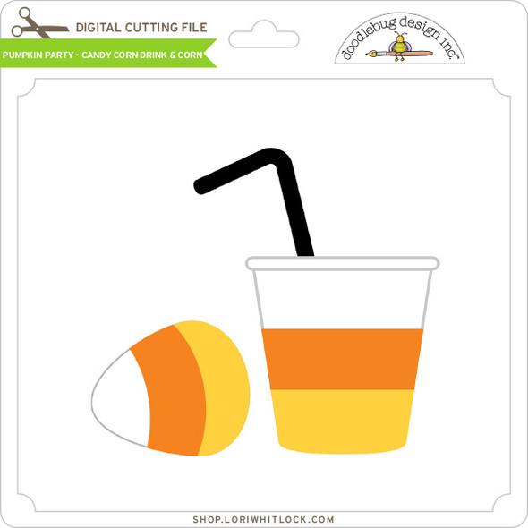 Pumpkin Party - Candy Corn Drink & Corn