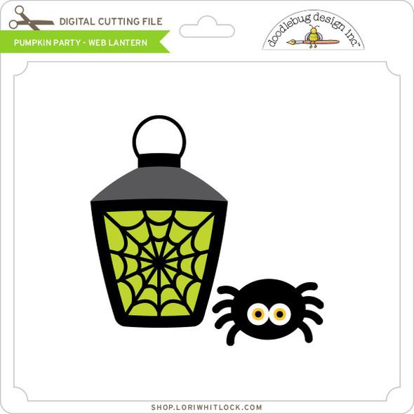 Pumpkin Party - Web Lantern