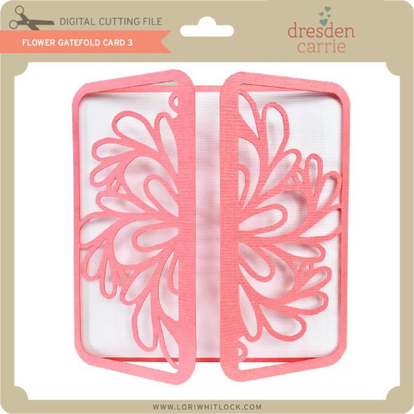Flower Gatefold Card 3