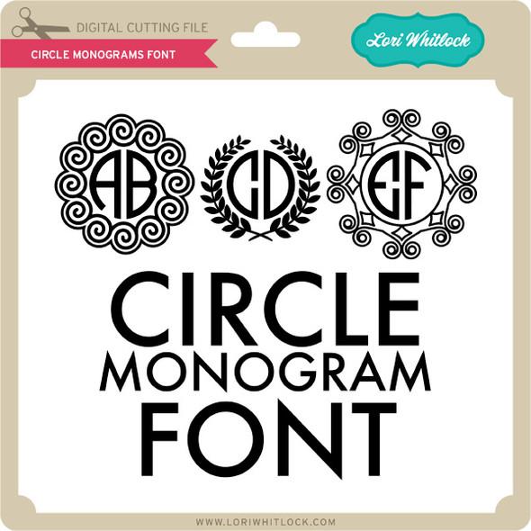 Circle Monogram Font