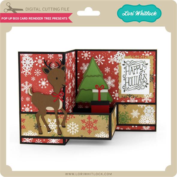 Pop Up Box Card Reindeer Tree Presents
