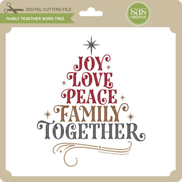 Family Together Word Tree