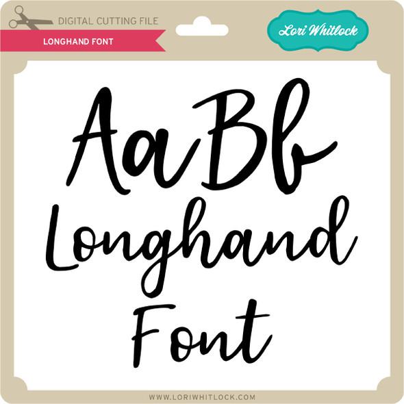 Longhand Font