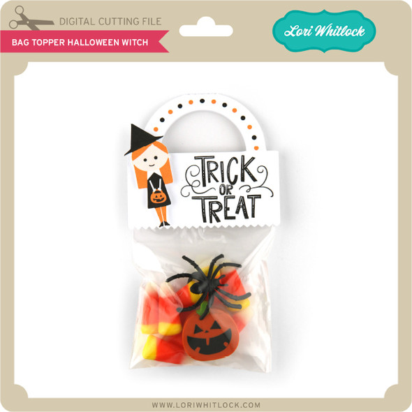 Bag Topper Halloween Witch