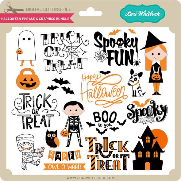 Halloween Phrase & Graphics Bundle