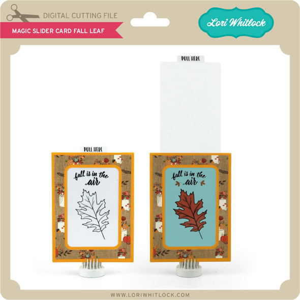 Magic Slider Card Fall Leaf