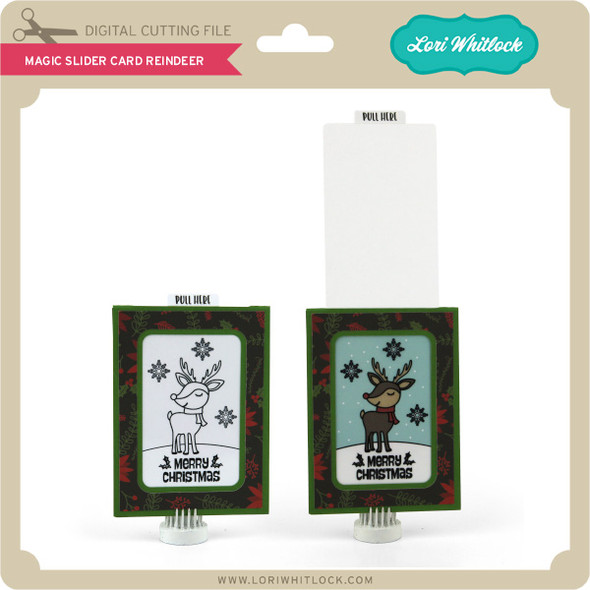 Magic Slider Card Reindeer