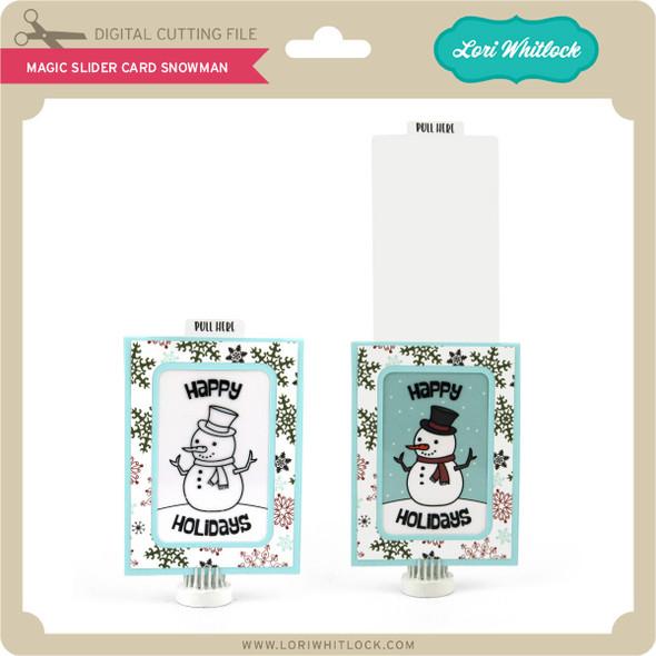 Magic Slider Card Snowman