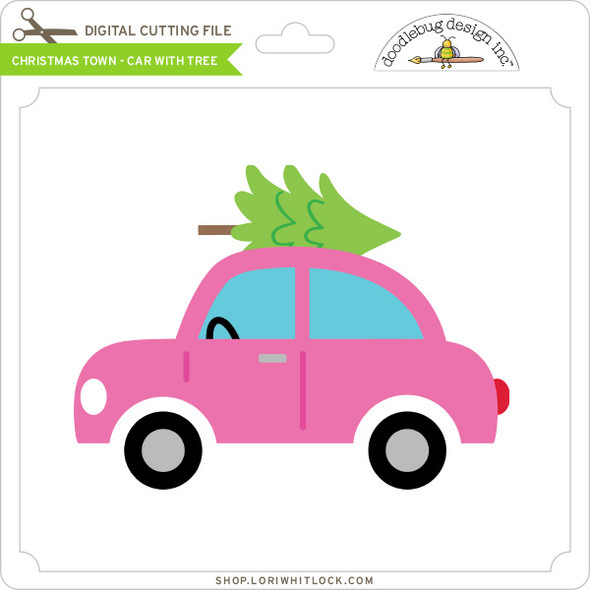 Christmas Town - Car with Tree