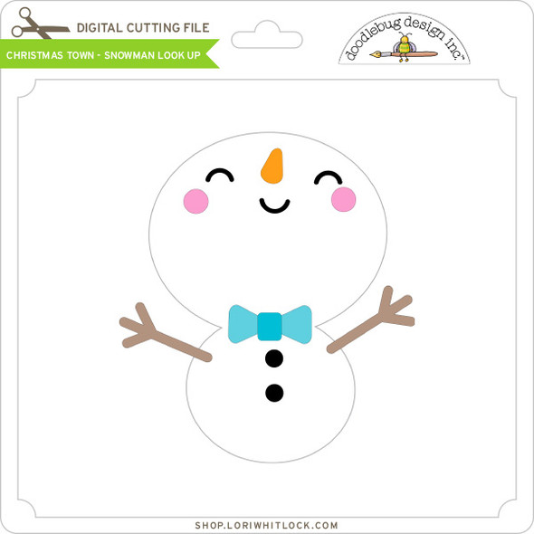 Christmas Town - Snowman Look Up