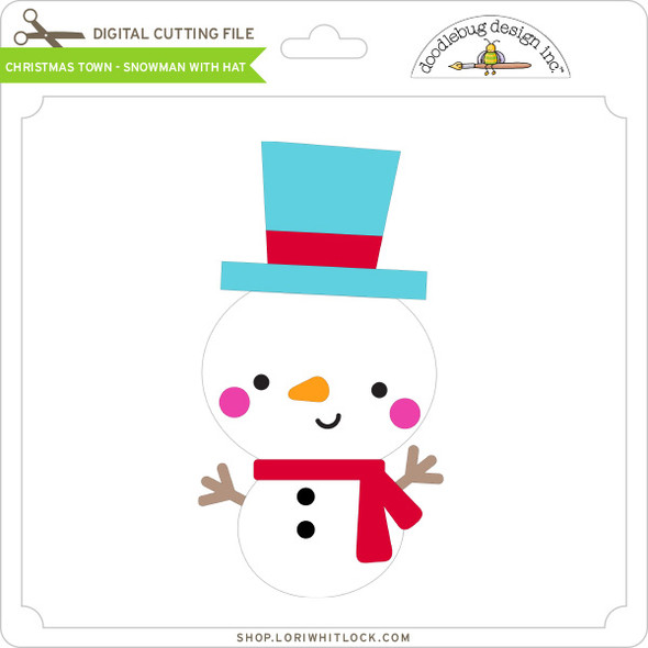 Christmas Town - Snowman with Hat