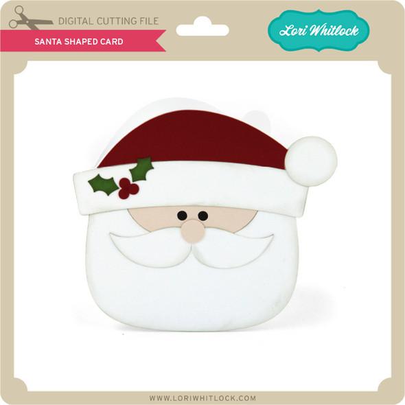 Santa Shaped Card