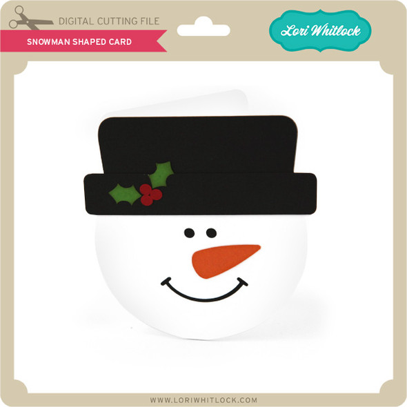 Snowman Shaped Card