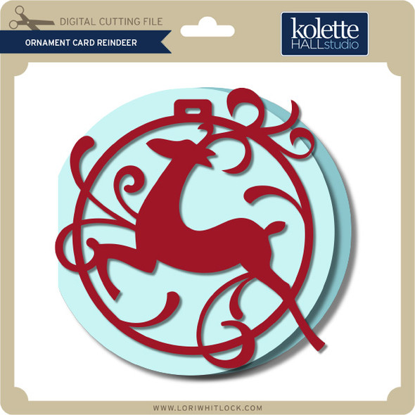 Ornament Card Reindeer