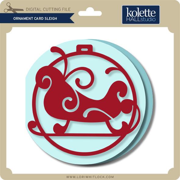 Ornament Card Sleigh