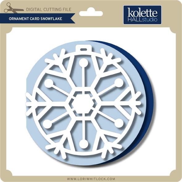 Ornament Card Snowflake