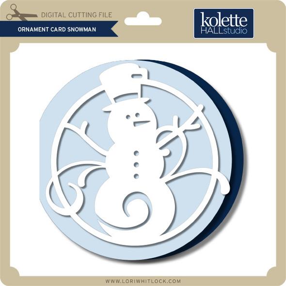 Ornament Card Snowman