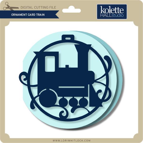 Ornament Card Train