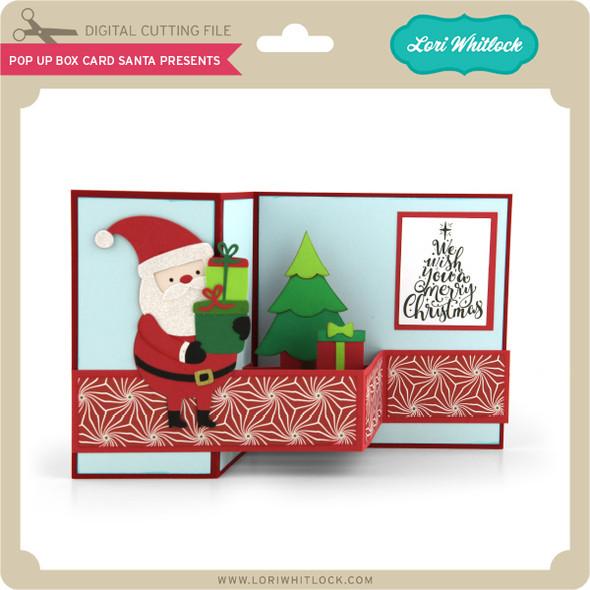 Pop Up Box Card Santa Presents
