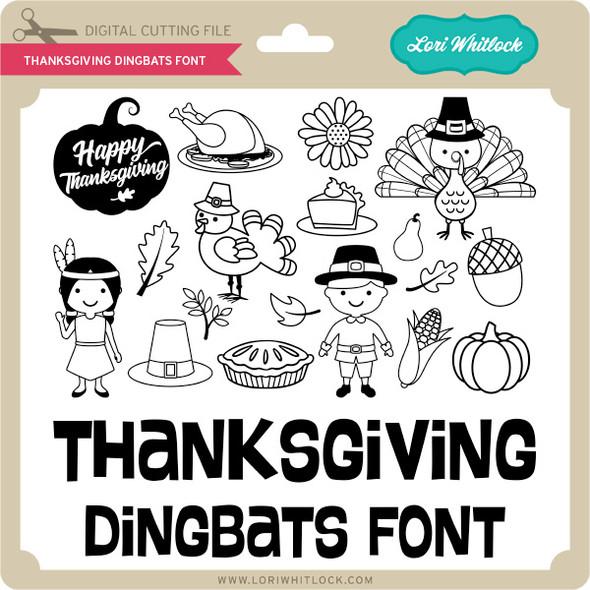 Thanksgiving Dingbats Font